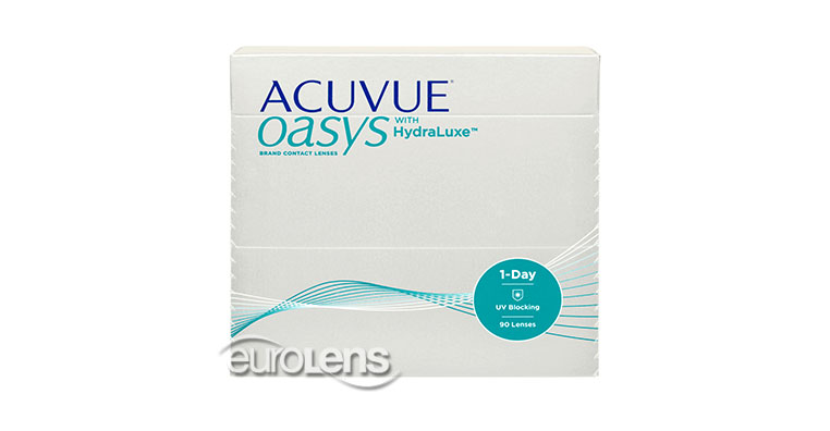 Acuvue Oasys 1-Day with Hydraluxe 90PK Contact Lenses (as low as £66.55) at  euroLens.co.uk (United Kingdom) 0d404a0fbc